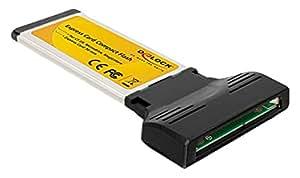 DeLOCK 61771 tarjeta y adaptador de interfaz - Accesorio (ExpressCard, Negro, Amarillo, 30 Mbit/s, Alámbrico, Windows XP/Vista/7/7-64, Mac OS ex 10.5, Linux ex 2.6)