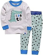 Vaenait Baby Boys Toddler Girls Pajamas Pyjamas 100% Cotton Character Printed 12M-12 Unisex Sleepwear