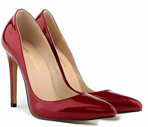 heels Patent high ZCH yards shoes female 42 shoes wedding Pointed large heels high banquet 36 party dress leather q5tqEAxwr