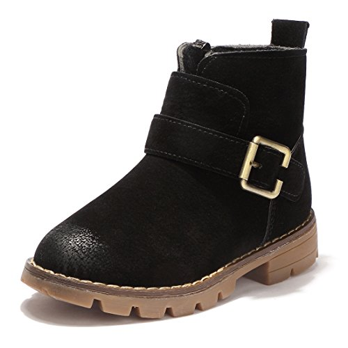 BTDREAM Boy's and Girl's Mid Calf Side Zipper Ankle Snow Boot Warm Winter Shoes