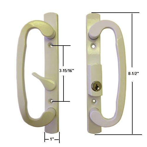 sliding glass door handle beige - 4