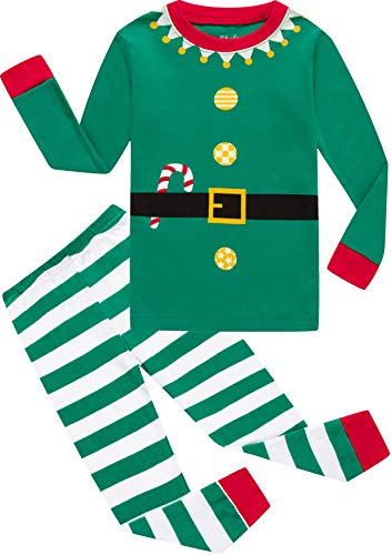 shelry Boys Christmas Pajamas Pjs for Girls Sleepwear Children Clothes Stripe Pants Set Size 12 ()