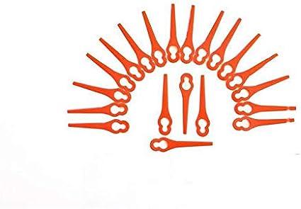 Florabest 20 cuchillas de plástico/cuchillas LIDL para cortabordes Fat 18 B2 y Fat 18 B3 IAN 71315 86154 95940 102971 273039 – Cortabordes con batería