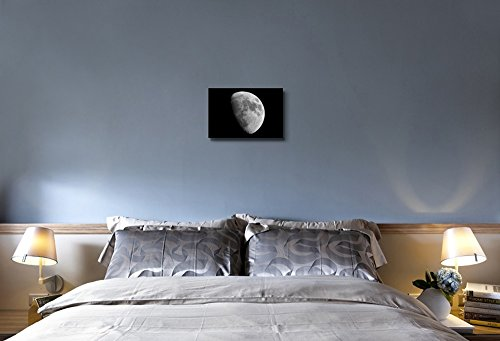 Rising Moon Crescent Against Black Universal Space Wall Decor