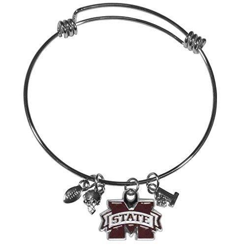 Siskiyou NCAA Mississippi State Bulldogs Charm Bangle Bracelet