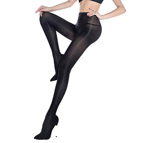 (Women Pantyhose Bar Stage Sexy Cut High Gloss Shiny Glossy Soft Tights Hosiery Hose (Black))