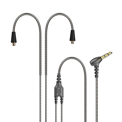 TENNMAK MMCX Detachable Cable for TENNMAK PRO Piano Trio & Other MMCX Earphones- Transparent Black (no mic)