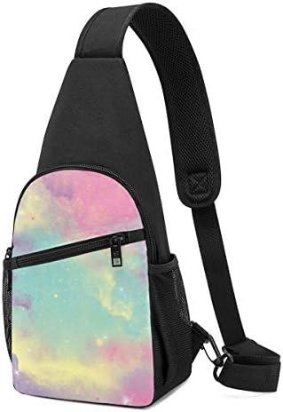 ボディ肩掛け 斜め掛け 多彩の空 ショルダーバッグ ワンショルダーバッグ メンズ 軽量 大容量 多機能レジャーバックパック