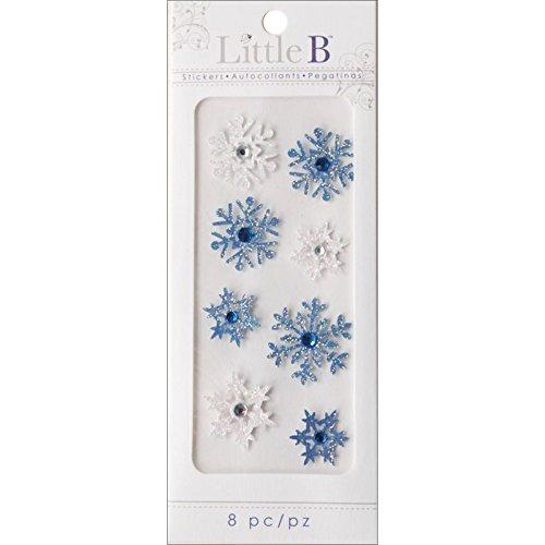 Little B 100206 Dimensional Stickers, Mini, Winter Snowflakes