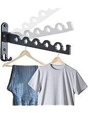 Gwolf Väggmonterad klädhängare ställ, hopfällbar väggmonterad klädhängare liten vägg kläder luftare klädstång vägg kläder krok ställning tvätthängare torkställ vägg för sovrum badrum balkong