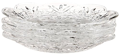 Godinger Crystal Dublin Canape Plates, Set of (Piece Crystal Coaster Set)