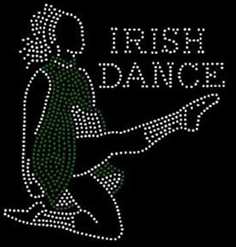 (Bling Saint Patrick's Day Irish Dance Rhinestone Iron on Transfer)