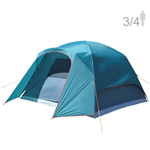 NTK Philly GT 3 to 4 Person 7 to 7 Person Foot Outdoor Dome Family Camping Tent 100% Waterproof 2500mm, Easy Assembly, Durable Fabric Rainfly, Micro Mosquito Mesh for Maximum Comfort