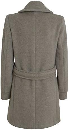 European Culture Damen Mantel Model 75L0 Farbe Grau Trenchcout Winterjacke
