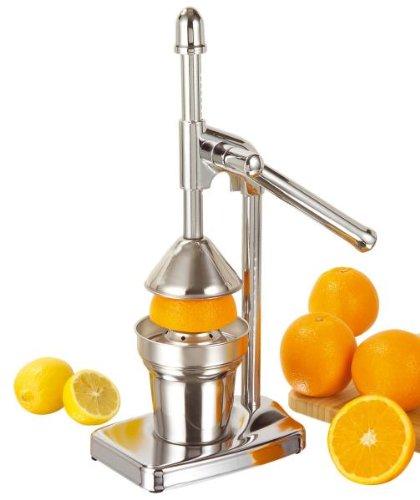 Zitruspresse Orangenpresse Saftpresse mit Hebel verchromt