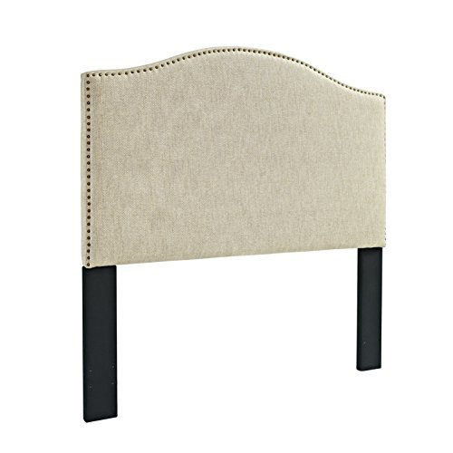Pulaski Selma Camel Back Tweed Panel Headboard, King / Cal King (Fabric Headboard)