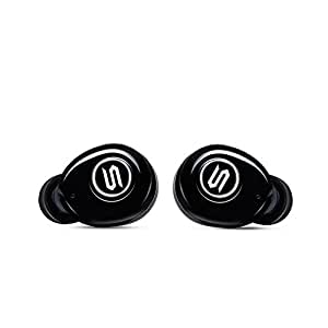 Soul Electronics ST-XS Superior High Performance True Wireless Earphones, Bluetooth Earbuds with Charging Box and Microphone. For iPhone iPad Android Smartphones Tablets, Laptop. Black