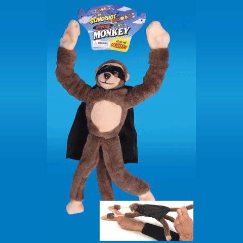 Playmaker Toys Flingshot Flying Monkey Plush Toy, Brown (Slingshot Monkey)