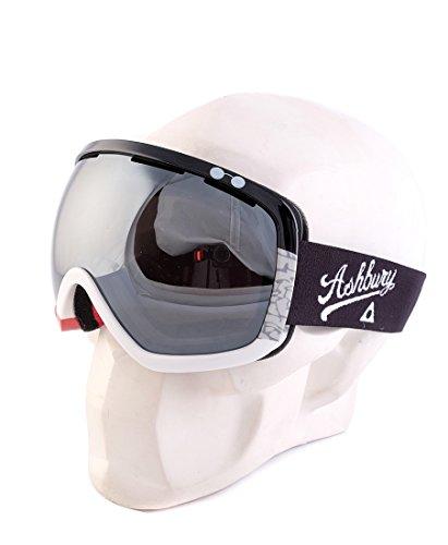 Ashbury Bullet Snow Goggles Red Elephant With Silver Chrome & Yellow - Ashbury Ski