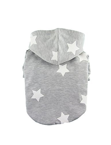 Star Printed Cotton French Terry Hoodie, Dog Top, Dog Clothing, Dog wear, Dog fashion, Pet Apparel, 2 Colors Available