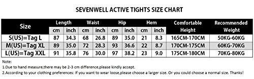 61c887aa95a1e SEVENWELL Men's Base Leggings HeatGear Workout Printed Compression Leggings  Tights Black+Gray M(US