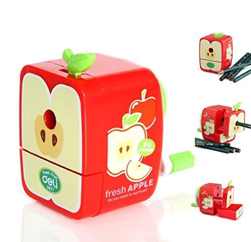 Manual Pencil Sharpener Safety Pencil Cutter Cute Cartoon Fruit Shape for Home Desks School Office Kids Teachers