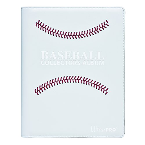 White Stitched Baseball Premium PRO-Binder (White) (Baseball 180)
