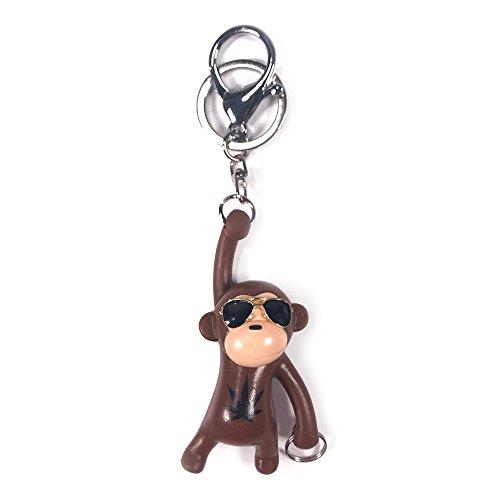 YGMONER Monkey Keychains, Bag Pendant Charm (Brown)