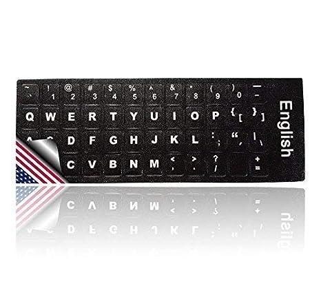 LEDELI Tastaturaufkleber Tastatur Aufkleber Keyboard Sticker Tastatur-Aufkleber für PC, Laptop, Notebook, Computer-Tastaturen