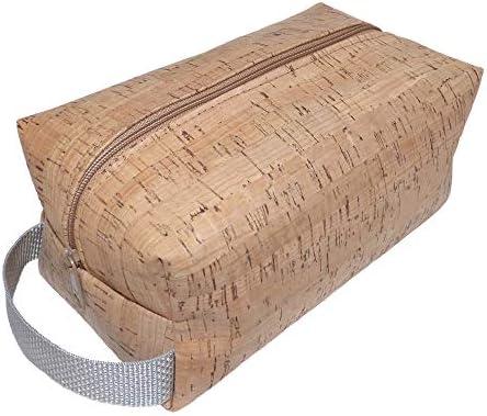 Amazon.com: Bolsa de aseo de corcho vegano/bolsa de afeitado ...