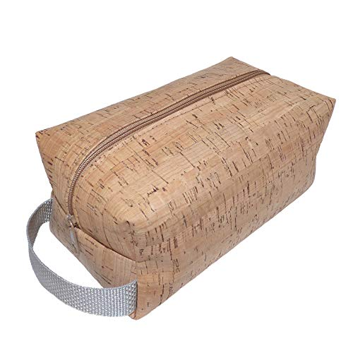 Vegan Cork Toiletry Bag/Shaving Bag/Dopp Kit/Bathroom Organizer/Travel Bag
