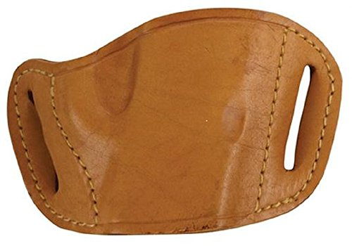 Bulldog Cases Tan Molded Leather Belt Slide Holster (Large)