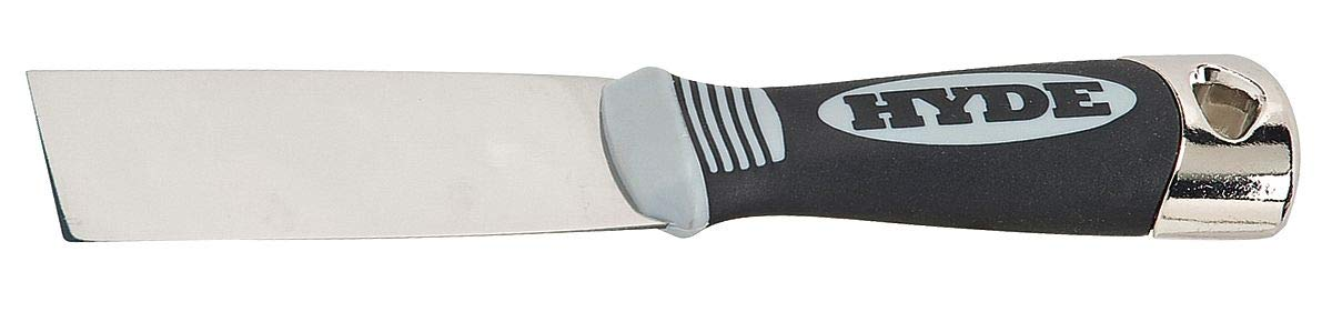 Hyde 7-3/4'' Putty Knife with 1-1/2'' Stainless Steel Blade, Black - 06108 Pack of 5