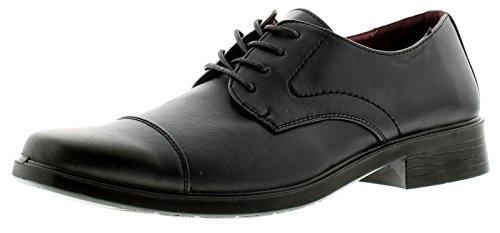 Surge Banco Zapatos formales Para Hombre Negro - Negro - GB Tallas 6-13