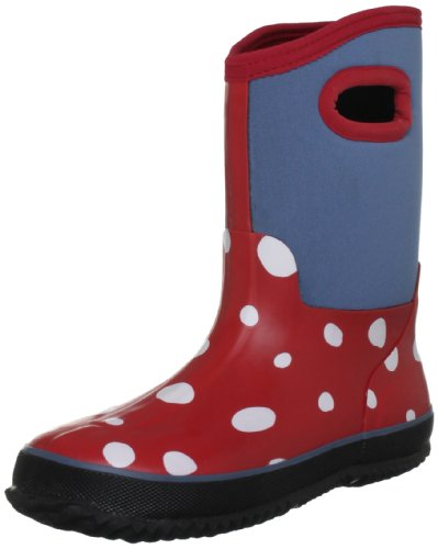 Hatley Mädchen White Dots On Red Schneestiefel, Rot Chex Red