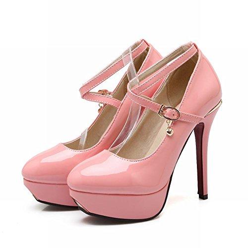 Mee Shoes Damen Stiletto Plateau Schnalle Pumps