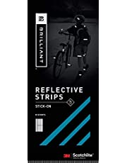Brilliant Reflective Stick-on Reflector Tape for Biking: Adhesive Stick-on Strips for Clothing Made of 3M Scotchlite Reflective Safety Material - Washable and Waterproof - Pack of 8 Strips