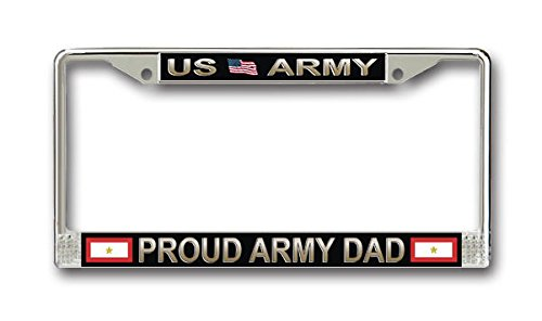 One Gold Star Proud Army Dad License Frame - American Made - Veteran Approved!