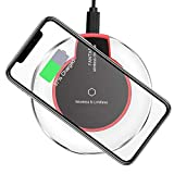 Wireless Charger, FLASHDA Qi-Certified Wireless Charging Pad 10W Compatible Galaxy Note 9/S9/S9+/Note 8/S8, 7.5W Compatible iPhone Xs MAX/XR/XS/X/8/8 Plus,5W for All Qi-Enabled Phones(NO AC Adapter)