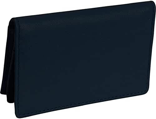 Royce Leather Deluxe Card Holder (Blue)