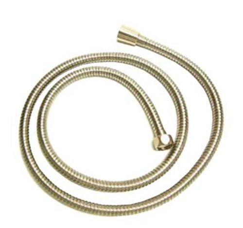 Whitehaus Chrome Shower - Whitehaus WH10301-POCH Brass 59-Inch Double Interlock Shower Hose, Polished Chrome