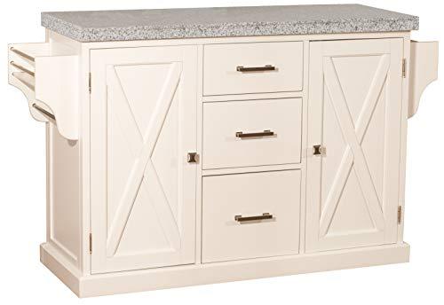 Hillsdale Furniture 4786-860G Brigham Kitchen Island with Granite Top, White