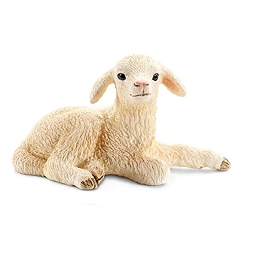 Schleich Lying Lamb Toy Figure (Figurine Sheep 2015)