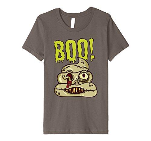 Kids Spooky Scary Boo Emoji Poop Halloween Best Costume Gift Tee 10 (Best Halloween Customs)
