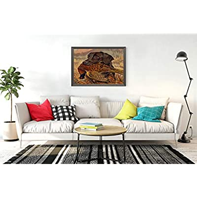 DIY 5D Diamond Painting Kits Vintage Chocolate Lab Hunting Minimal European Natural Art Full Drill Painting Arts Craft Canvas for Home Wall Decor Full Drill Cross Stitch Giftt 14X20 Inch: Toys & Games