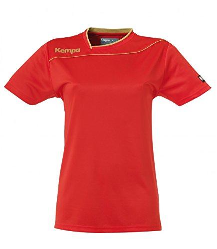 Kempa - Pantalón corto de deporte para mujer rojo / dorado