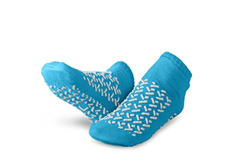 - Medline MDTDBLTREADL Double-Tread Slippers, Large, Blue (Pack of 48)