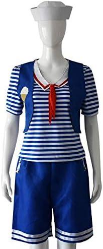 WSJDE Stranger Things 3 Robin Scoops Ahoy Uniforme Azul Marino ...