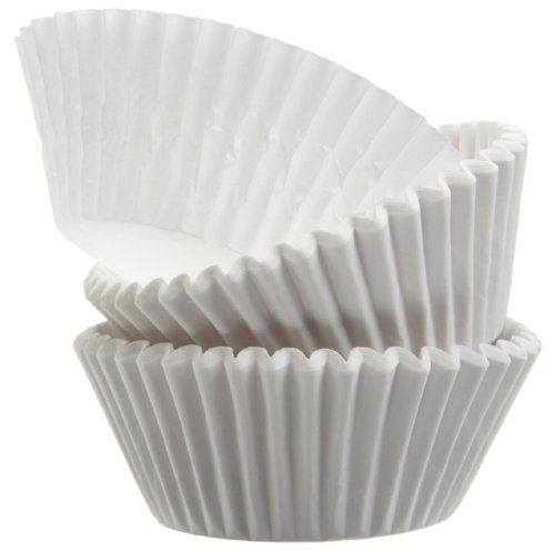 Regency Wraps Baking Cups for Cupcakes and Muffins, Standard , 50-Count, White