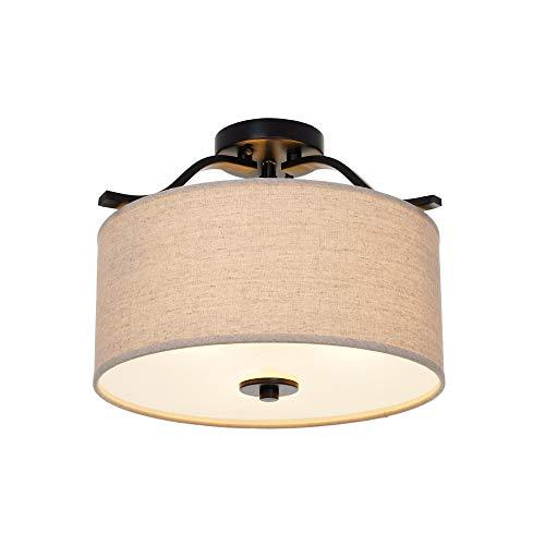 """Ravenna Home Classic 3 Light Semi-Flushmount Pendant, 11.50"""""""